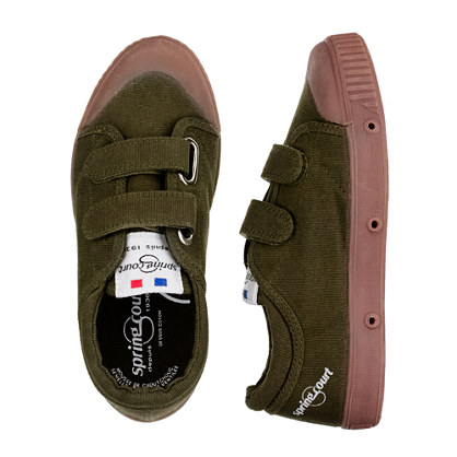 Kids' Spring Court® classic canvas Velcro® sneakers