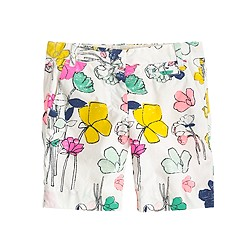 Girls' bermuda short in floating floral
