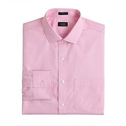 Slim non-iron spread collar dress shirt
