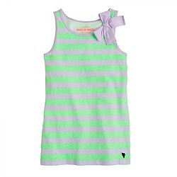 Girls' bow tank in stripe