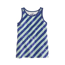 Girls' sequin-stripe tank