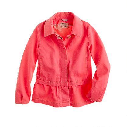 Girls' chino peplum jacket