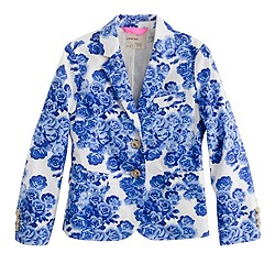 Girls' schoolboy blazer in tea rose