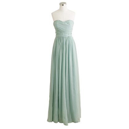 Arabelle long dress in silk chiffon