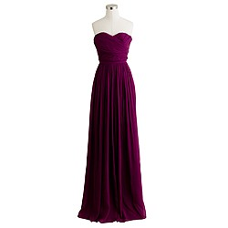 Petite Arabelle long dress in silk chiffon
