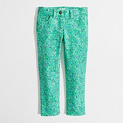 Factory girls' floral skinny jean