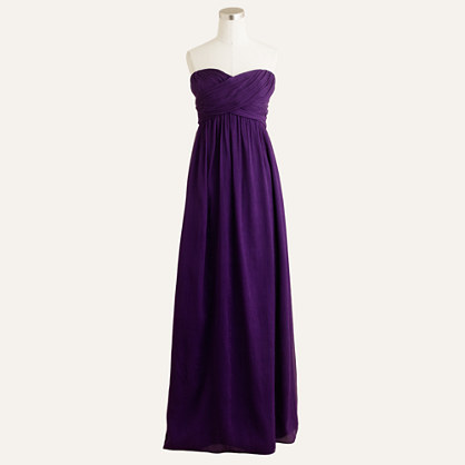Taryn long dress in silk chiffon