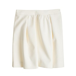 Box-pleated crepe skirt
