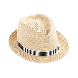 Kids' stripe band trilby hat