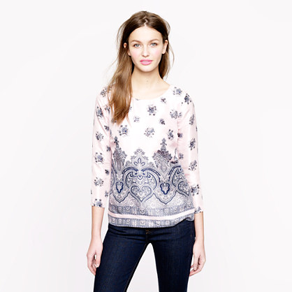 Collection pink paisley top