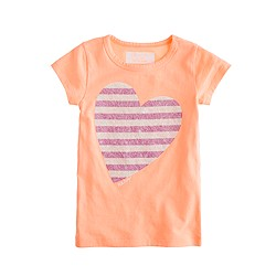 Girls' glow-in-the-dark heart tee