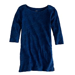 Painter elbow-sleeve boatneck tee in indigo