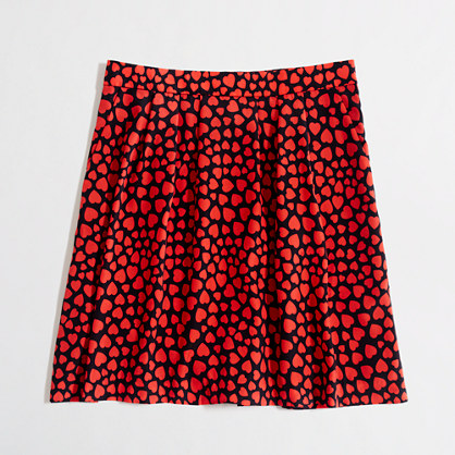 Factory pleated printed skirt