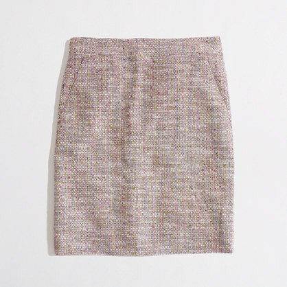 Factory multicolor tweed mini