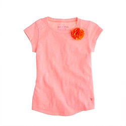 Girls' supersoft carnation tee