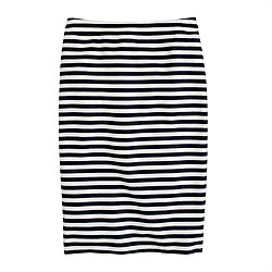 No. 2 pencil skirt in navy-white stripe