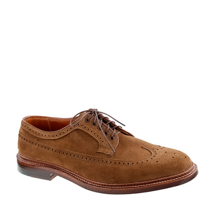 Alden® for J.Crew suede longwing bluchers