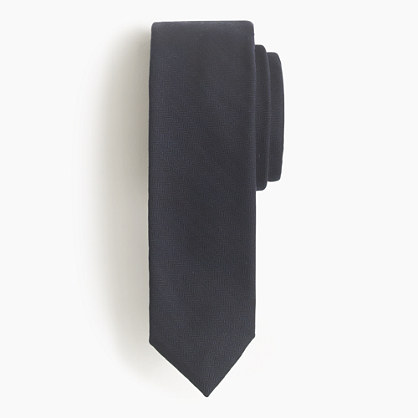 Mini-herringbone wool tie