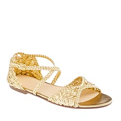 Collection metallic woven sandals