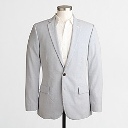 Factory Thompson two-button suit jacket in seersucker
