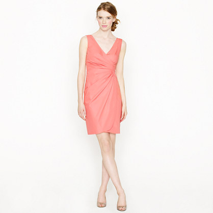 Petite Ramona dress in cotton taffeta