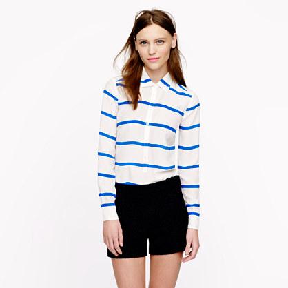 Stripe silk popover