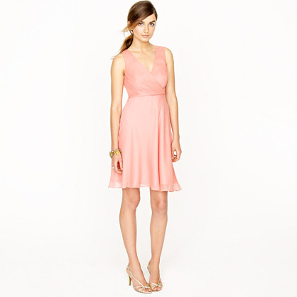 Petite Evie dress in silk chiffon