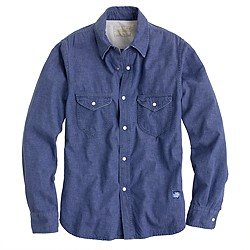 Chimala® denim officer's shirt