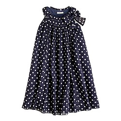 Girls' collection crinkle silk chiffon dot dress