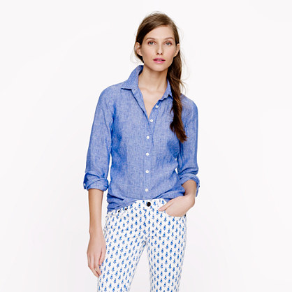 The Blue Booby: J Crew Reviews: Crosshatch Linen, Perfect Linen ...