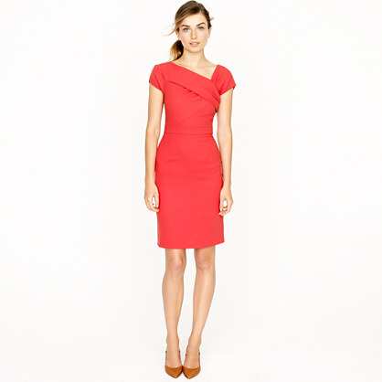 Origami sheath dress in wool crepe