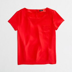 Factory draped pocket tee