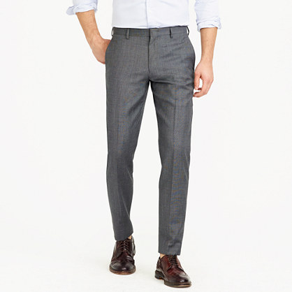 Ludlow slim suit pant in Italian worsted wool