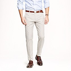 Ludlow slim suit pant in fine-stripe cotton