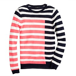 Collection featherweight cashmere Tippi sweater in colorblock stripe