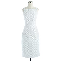 Apron dress in eyelet
