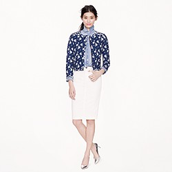 Goldsign® for J.Crew Holly skirt in ecru wash