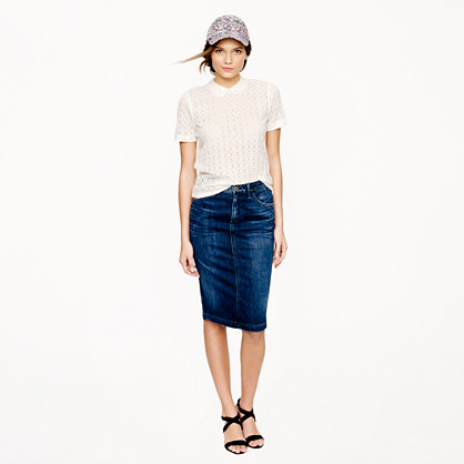 Goldsign® for J.Crew Holly skirt in martel wash