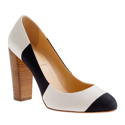 Etta canvas stripe pumps