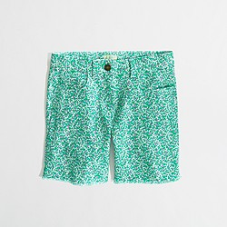 Factory girls' printed denim short