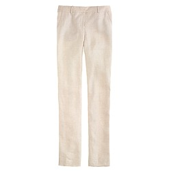 Café trouser in herringbone linen