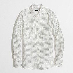 Factory patterned oxford button-down shirt