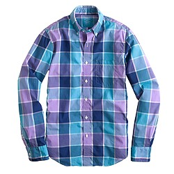 Slim lightweight shirt in faded violet check
