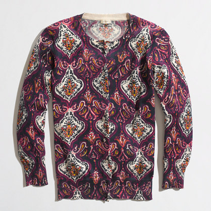Factory Clare cardigan in paisley