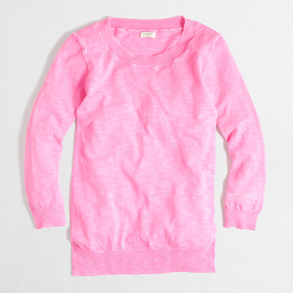 Factory textured Charley sweater in neon
