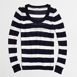 Factory linen-cotton scoopneck sweater