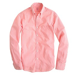 Slim lightweight shirt in flash pink check