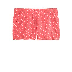 Polka-dot linen short