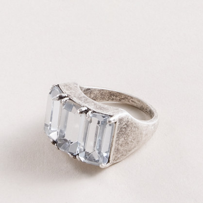 Crystal trio ring