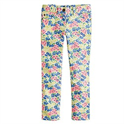 Girls' toothpick jean in garden floral print